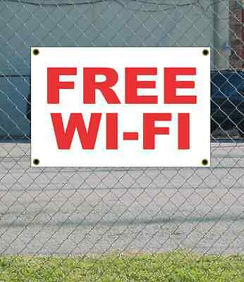 2x3 Free Wi-fi Red White Banner Sign New Discount Size Price Free Ship