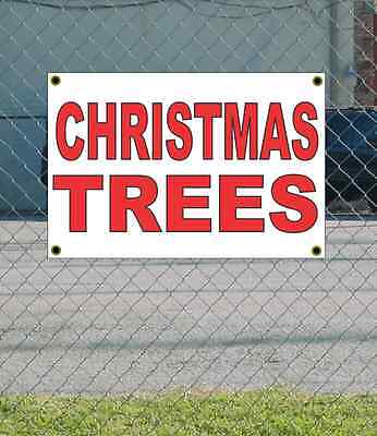 2x3 CHRISTMAS TREES Red & White Banner Sign NEW Discount Size & Price FREE SHIP ()