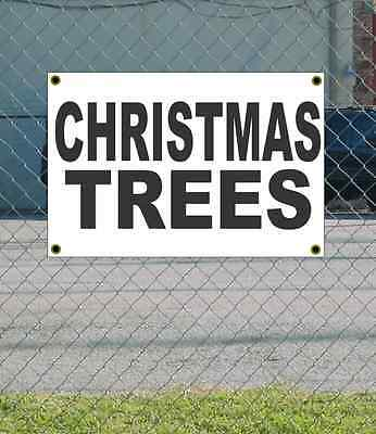 2x3 CHRISTMAS TREE Black & White Banner Sign NEW Discount Size & Price FREE SHIP ()