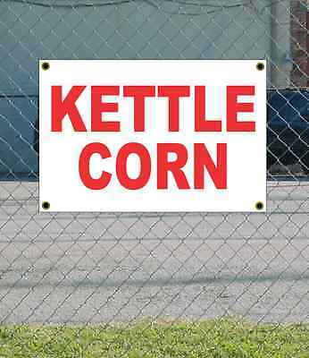 2x3 Kettle Corn Red White Banner Sign New Discount Size Price Free Ship
