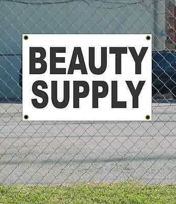 2x3 BEAUTY SUPPLY Black & White Banner Sign NEW Discount Size & Price FREE SHIP - Discount Beauty Supply