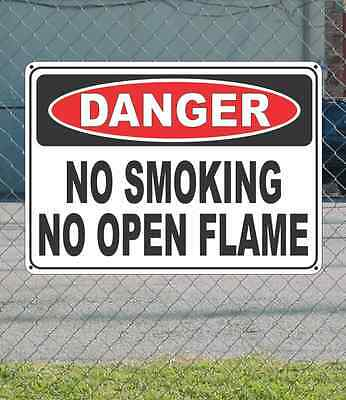 Fire Safety Open House - DANGER Oxygen No Smoking or Open Flame - OSHA Safety SIGN 10