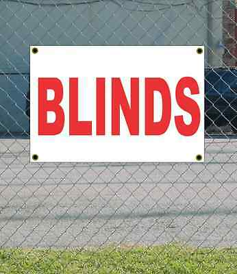 2x3 BLINDS Red & White Banner Sign NEW Discount Size & Price FREE SHIP