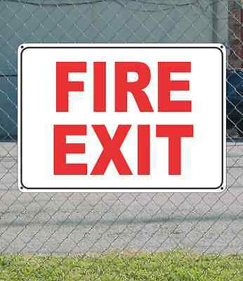 """FIRE EXIT - OSHA Safety SIGN 10"""" x 14"""""""