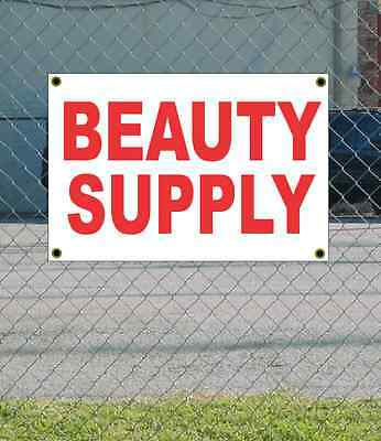 2x3 BEAUTY SUPPLY Red & White Banner Sign NEW Discount Size & Price FREE SHIP - Discount Beauty Supply