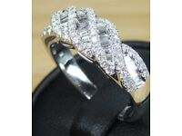 Stunning 18ct White Gold Ring with 0.80 Carat Diamond Certified Value of £3250