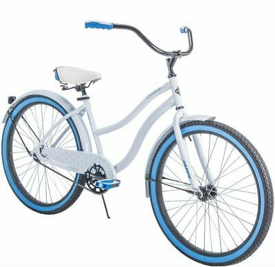 Womens Bike Beach Cruiser For Road Comfort 26 Inch Girls White Ride Bicycle