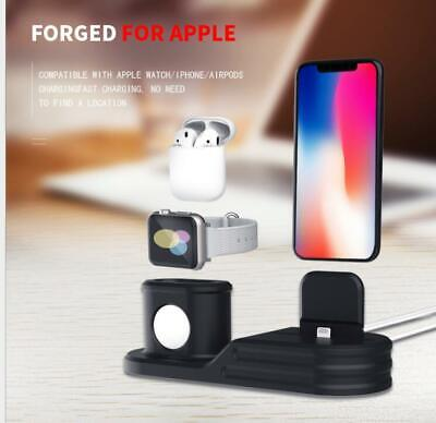 3 in 1 Charging Dock Charger Stand For Apple Watch Series/AirPods/iPhone (Charging Dock Station)