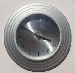 Brushed Nickel Wall Clock 11 Inches