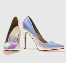 Iridescent court heels (Missguided)