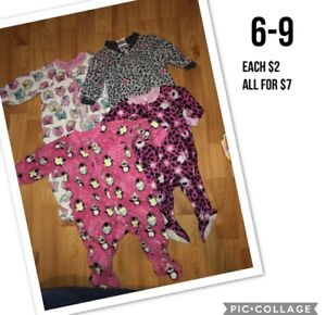 6-9 MONTH GIRL SLEEPERS prices in pics