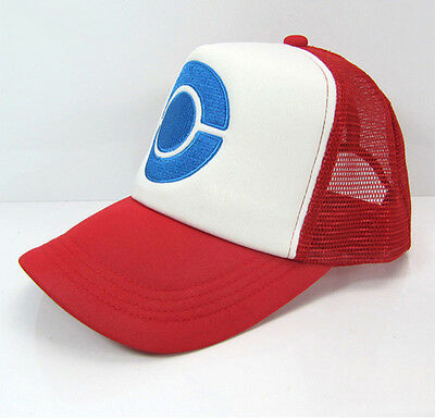 Anime Cosplay Pokemon Pocket Monster Ash Ketchum Baseball Trainer Cap Halloween](Halloween Baseball Games)