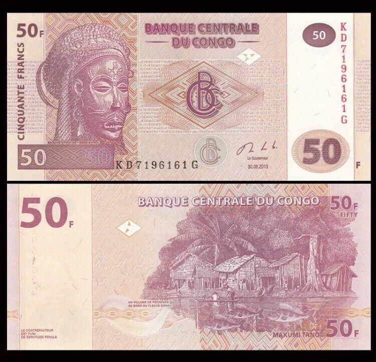 CONGO 50 Francs, 2007-2013, P-97, UNC
