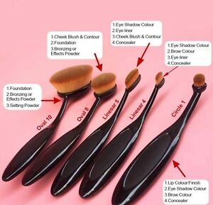 Brand new professional 5 piece oval brush makeup set.  Kitchener / Waterloo Kitchener Area image 5