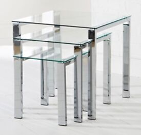 Glass and Crome coffee tables