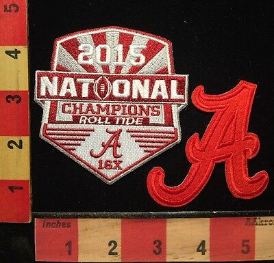 "2015 ALABAMA CRIMSON TIDE FOOTBALL NATIONAL CHAMPIONS PATCH +Bama ""A"" Patch 67WP"