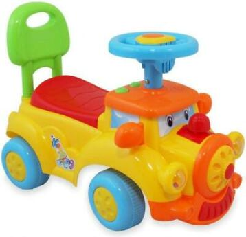 MamaLoes Eco Toys Billy de Trein Geel Loopauto 556