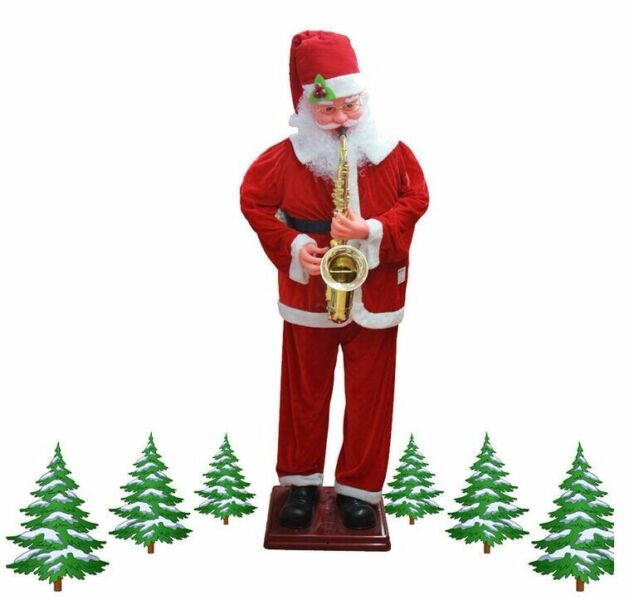 Christmas decorations santa voice Sachs electric motor with music 1.8 m