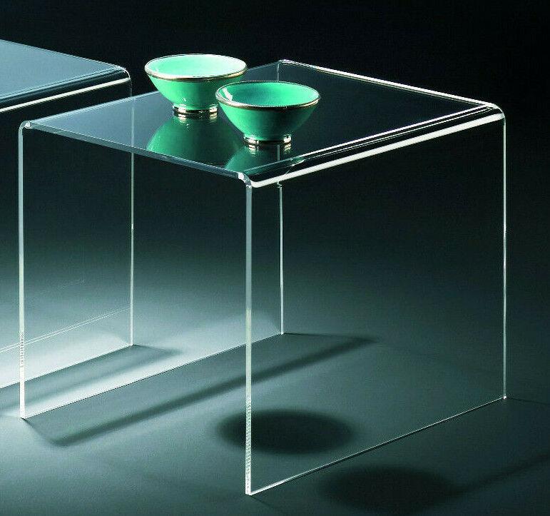 Beistelltisch - Acrylglas klar transparent - aus Satztisch einzeln B3