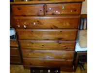 Large Heavy Chest of Drawers (Solid Pine)