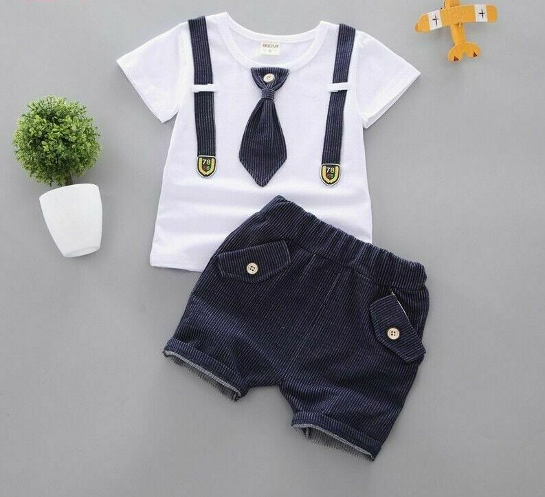 Summer Baby Boys Clothes Outfits Children Sport Suits Casual Gentleman Kids Sets