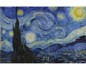 Starry Night By Van Gogh paint By Number Kit 50 x 40cm Diy Oil Painting No Frame