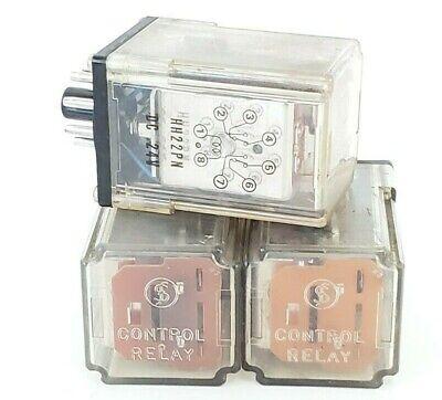 Lot Of 3 Fuji Electric Hh22pn Dc 24v Control Relays Hh22pndc24v