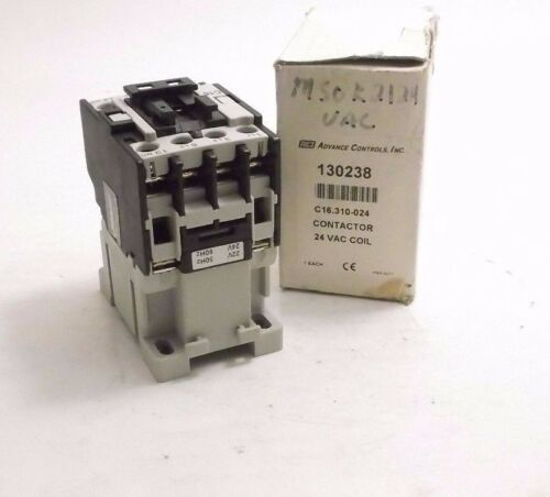 Advance Controls 130238 Contactor - 24VAC Coil - Prepaid Shipping (C16.310-024)