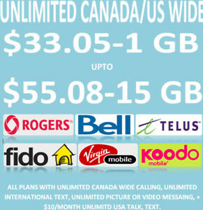 1GB - $33.05 to 15 GB $55.08 SERIOUSLY CHEAP CELL PHONE PLANS