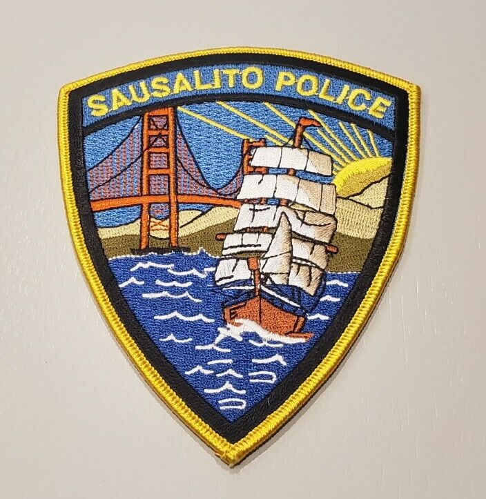 Sausalito California Police Shoulder Patch