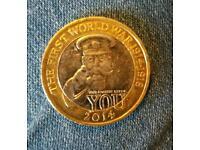 World war 1 two pound coin