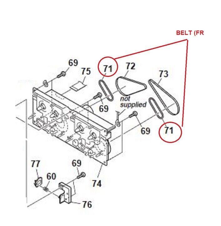 Rubber Belt FR (FR) Connector For Sony CMT- HCD- MDS-J RCD