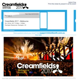 Creamfields Ticket (Electronic)