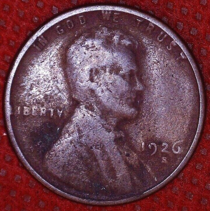 1926 S Lincoln Wheat Cent Better Date San Francisco Mint 413 - $8.99