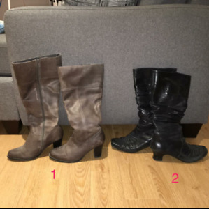 Womens Reiker and Denver Hayes boots - size 7.5