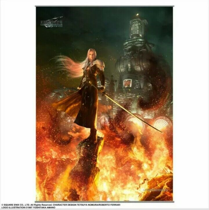 Square Enix Final Fantasy VII 7 REMAKE Wall Scroll Poster Vol. 2 Sephiroth NEW