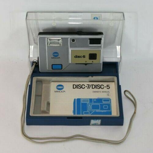 Minolta Disc 5  Disc Film Camera - With Manual & flip-open plastic Storage Case