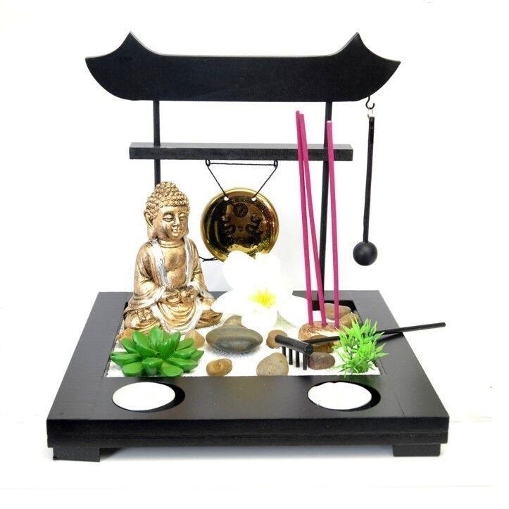 Deko Set Mini Zen Garten Buddha Asia Tempel Pagode Entspannung Feng Shui Siam