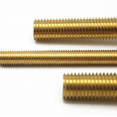 Solid Brass All Thread Threaded Rod Bar Studs 10-24 X 6