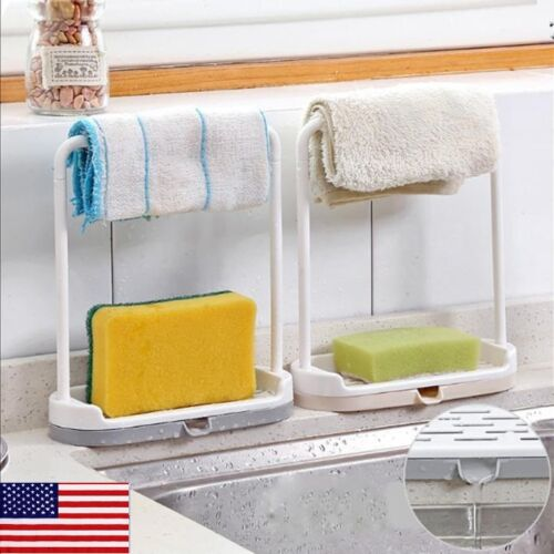US Kitchen Storage Rack Holder Sink Drainer Bathroom Shelf S