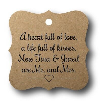 24 A heart full of love - Personalized Wedding Favor Tags - Wedding Favor Tags