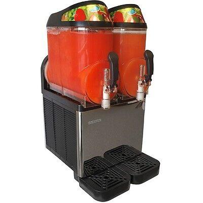 New Dual Bowl Margarita Slush Frozen Drink Machine - Donper Xc224