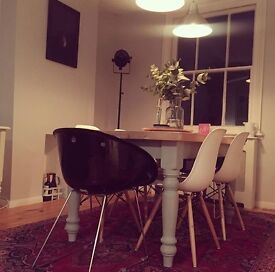 Dining table painted in Annie Sloan paint