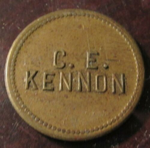 Very Old C.E. Kennon Tulsa, OK 5c Trade Token - Oklahoma