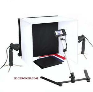 Square 60CM Fordable Photo Studio Light Box Kit with LED Lights - Ship across Canada