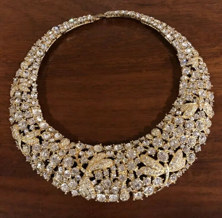 rhinestone collar Statement necklace