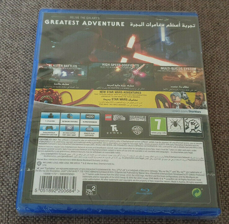 Sony Playstation 4 PS4 Game Lego Star Wars The Force Awakens New Sealed
