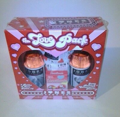 UNOPENED 2007 ~ Jones SODA Bottles The LOVE PACK~  Valentines Day Love Potion #6