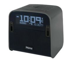 iHome Bluetooth FM Clock Radio With Speakerphone And Dual USB Charging