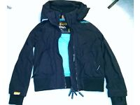 Womens Superdry 'the wind bomber' jacket Large 10-12